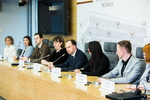 Nuotrauka. Sveikatos apsaugos ministro Aurelijaus Verygos spaudos konferencija, skirta paminėti Pasaulinei kovos su vėžiu dienai. Seimo kanceliarijos (aut. O. Posaškova) nuotr.