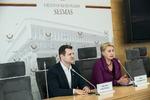 """Nuotrauka. Seimo narės Rasos Budbergytės spaudos konferencija """"Kodėl Vyriausybė nekeičia daugumai piliečių nenaudingos mokesčių sistemos?"""". Seimo kanceliarijos (aut. Dž. G. Barysaitė) nuotr."""