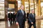 Nuotrauka. Seimo Pirmininko Viktoro Pranckiečio susitikimas su Islandijos Prezidentu Gudniu Torlacijumi Johanesonu (Guðni Thorlacius Jóhannesson). Seimo kanceliarijos (aut. Dž. G. Barysaitė) nuotr.
