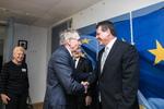 Nuotrauka. Seimo Pirmininko pavaduotojas Gediminas Kirkilas susitiko su Europos Komisijos Pirmininko pavaduotoju, atsakingu už energetikos sąjungą, Marošu Šefčovičiumi. Seimo kanceliarijos (aut. Dž.G.Barysaitė) nuotr.