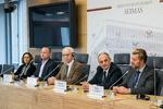 """Nuotrauka. Seimo nario Algimanto Kirkučio spaudos konferencija """"Gyvensenos medicinos lyderiai – Lietuvoje"""". Seimo kanceliarijos (aut. Dž. G. Barysaitė) nuotr."""