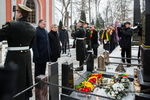 Nuotrauka. Seimo Pirmininkas Viktoras Pranckietis dalyvavo Vasario 16-osios Nepriklausomybės Akto signatarų pagerbime. Seimo kanceliarijos (aut. O. Posaškova) nuotr.