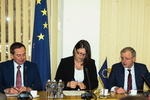 Nuotrauka. Europos reikalų komiteto narių susitikimas su Europos Komisijos nare, atsakinga už transporto politiką, Violeta Bulc. Seimo kanceliarijos (aut. Dž. G. Barysaitė) nuotr.