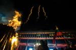 Nuotrauka. Atminimo laužų uždegimo ceremonija Nepriklausomybės aikštėje. Seimo kanceliarijos (aut. O. Posaškova) nuotr.