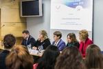 """Nuotrauka. Diskusija """"Lyčių lygybės nauda visuomenei"""". Seimo kanceliarijos (aut. O. Posaškova) nuotr."""