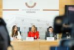 """Nuotrauka. Seimo narės Agnės Bilotaitės spaudos konferencija """"Idėja Lietuvai: sveikatos priežiūra be korupcijos"""". Seimo kanceliarijos (aut. O. Posaškova) nuotr."""