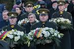 Nuotrauka. Seimo Pirmininkas Viktoras Pranckietis dalyvavo žuvusiųjų pagerbimo ceremonijoje. Seimo kanceliarijos (aut. Dž. G. Barysaitė) nuotr.