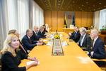 Nuotrauka. Seimo Pirmininkas Viktoras Pranckietis susitiko su Islandijos Prezidentu Gudniu Torlacijumi Johanesonu. Seimo kanceliarijos (aut. O. Posaškova) nuotr.