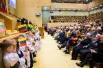 Nuotrauka. Lietuvos Respublikos Seimo iškilmingas minėjimas, skirtas Lietuvos valstybės atkūrimo 100-mečiui. Seimo kanceliarijos (aut. O. Posaškova) nuotr.
