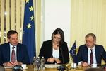 Nuotrauka. Seimo Europos reikalų komiteto narių susitikimas su Europos Komisijos nare, atsakinga už transporto politiką, Violeta Bulc