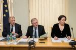 Nuotrauka. Europos Komisijos narys Vytenis Povilas Andriukaitis pristatė Europos Komisijos parengtą 2018 metų Lietuvos ekonomikos iššūkių analizę. Seimo kanceliarijos (aut. Dž. G. Barysaitė) nuotr.