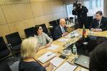 Nuotrauka. Seimo ir Pasaulio lietuvių bendruomenės komisijos pasitarimas