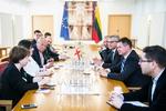Nuotrauka. Gruzijos, Moldovos ir Ukrainos parlamentarų susitikimas su Energetikos komisijos nariais. Seimo kanceliarijos (aut. O. Posaškova) nuotr.