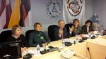 """Nuotrauka. Seimo nario A. Bauros iniciatyva surengta apskritojo stalo diskusija """"Piliečių konsultavimo ir informavimo patirtis Ukrainoje"""". Nuotrauka Algimanto Birbilo."""