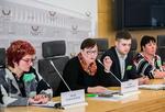 """Nuotrauka. Seimo narės Aušros Maldeikienės spaudos konferencija """"Smulkieji ūkininkai nesutinka su vykdoma žemės ūkio politika"""". Seimo kanceliarijos (aut. O. Posaškova) nuotr."""