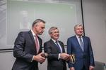 Nuotrauka. Seimo Pirmininkas Viktoras Pranckietis dalyvavo Lietuvos pramonininkų konfederacijos metinėje konferencijoje. Seimo kanceliarijos (aut. Dž. G. Barysaitė) nuotr.