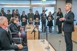 Nuotrauka. Seimo Pirmininkas Viktoras Pranckietis dalyvavo parodos, skirtos signataro Stanislovo Narutavičiaus atminimui, atidaryme. Seimo kanceliarijos (aut. Dž. G. Barysaitė) nuotr.