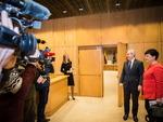 Nuotrauka. Seimo Pirmininko Viktoro Pranckiečio susitikimas su paveldo departamento prie Kultūros ministerijos direktore Diana Varnaite