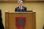 Nuotrauka. Lietuvos Respublikos Seimo iškilmingas minėjimas, skirtas Lietuvos valstybės atkūrimo 100-mečiui. Seimo kanceliarijos (aut. Dž. G. Barysaitė) nuotr.