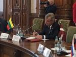 Nuotrauka. Seimo Pirmininkas Viktoras Pranckietis dalyvavo pirmojoje B9 formato parlamentinio viršūnių susitikimo dalyje. Seimo kanceliarijos (aut. E. Sabalienė) nuotr.