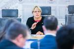 Nuotrauka.  Seimo narės Astos Kubilienės spaudos konferencija. Seimo kanceliarijos (aut. O. Posaškova) nuotr.