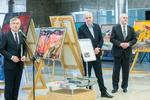 """Nuotrauka. """"Individualistų"""" tapybos darbų parodos, skirtos Lietuvos valstybės atkūrimo šimtmečiui paminėti, pristatymas. Seimo kanceliarijos (aut. O. Posaškova) nuotr."""