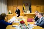 Nuotrauka. Seimo Pirmininkas Viktoras Prackietis susitiko su vidaus reikalų ministru Eimučiu Misiūnu. Seimo kanceliarijos (aut. O. Posaškova) nuotr.